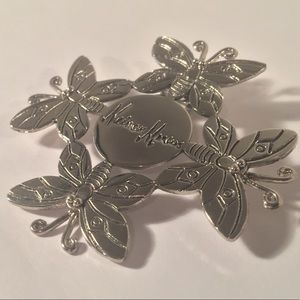 VTG Neiman Marcus Butterfly signed scarf hair clip